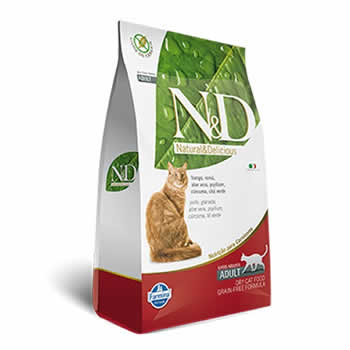 N&D Feline Adult Frango e Romã Livre de Cereais  - Brasília Pet