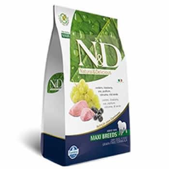 N&D Maxi Adult Cordeiro e Blueberry Livre de Cereais  - Brasília Pet