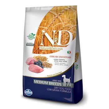 N&D Medium Adult Cordeiro e Blueberry Cereais Ancestrais   - Brasília Pet