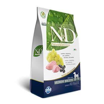 N&D Medium Adult Cordeiro e Blueberry Livre de Cereais  - Brasília Pet