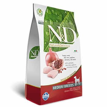 N&D Medium Adult Frango e Romã Livre de Cereais  - Brasília Pet