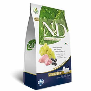N&D Mini Adult Cordeiro e Blueberry Livre de Cereais  - Brasília Pet