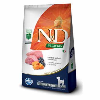 N&D Pumpkin Medium Adult Cordeiro, Abóbora e Blueberry  - Brasília Pet