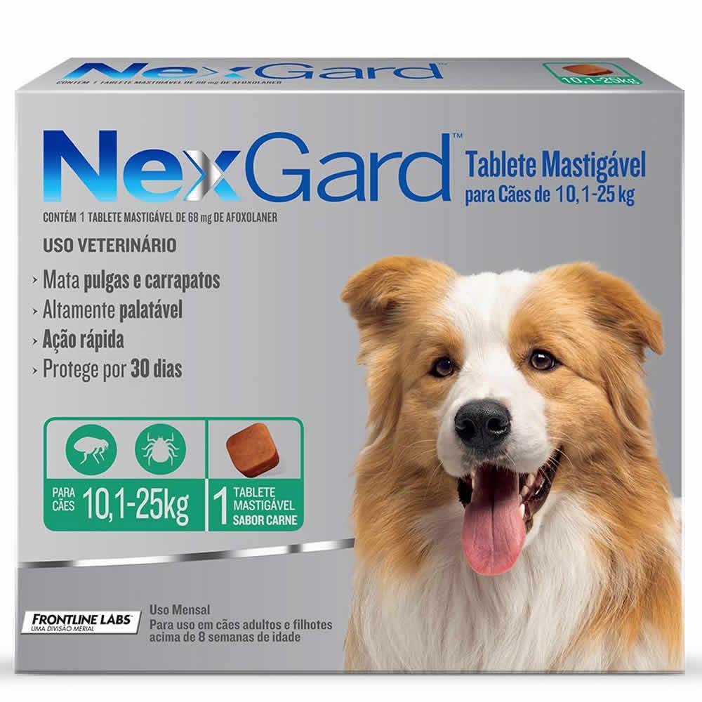 NexGard Antipulgas e Carrapatos Cães 10 a 25kg  - Brasília Pet