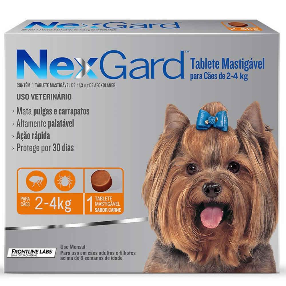 NexGard Antipulgas e Carrapatos Cães 2 a 4kg  - Brasília Pet
