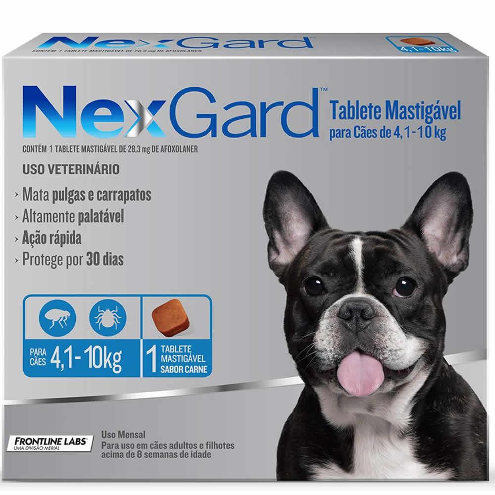NexGard Antipulgas e Carrapatos Cães 4 a 10kg  - Brasília Pet
