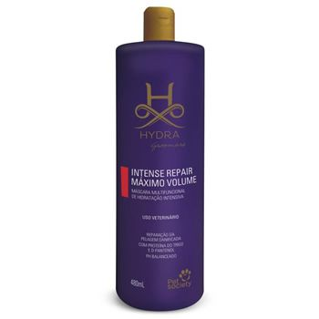 Pet Society Hydra Groomers Máscara Intense Repair Máximo Volume 480ml  - Brasília Pet