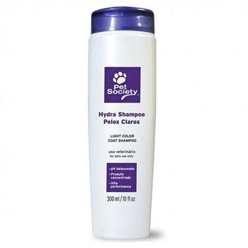 Pet Society Hydra Shampoo Pelos Claros 300ml  - Brasília Pet
