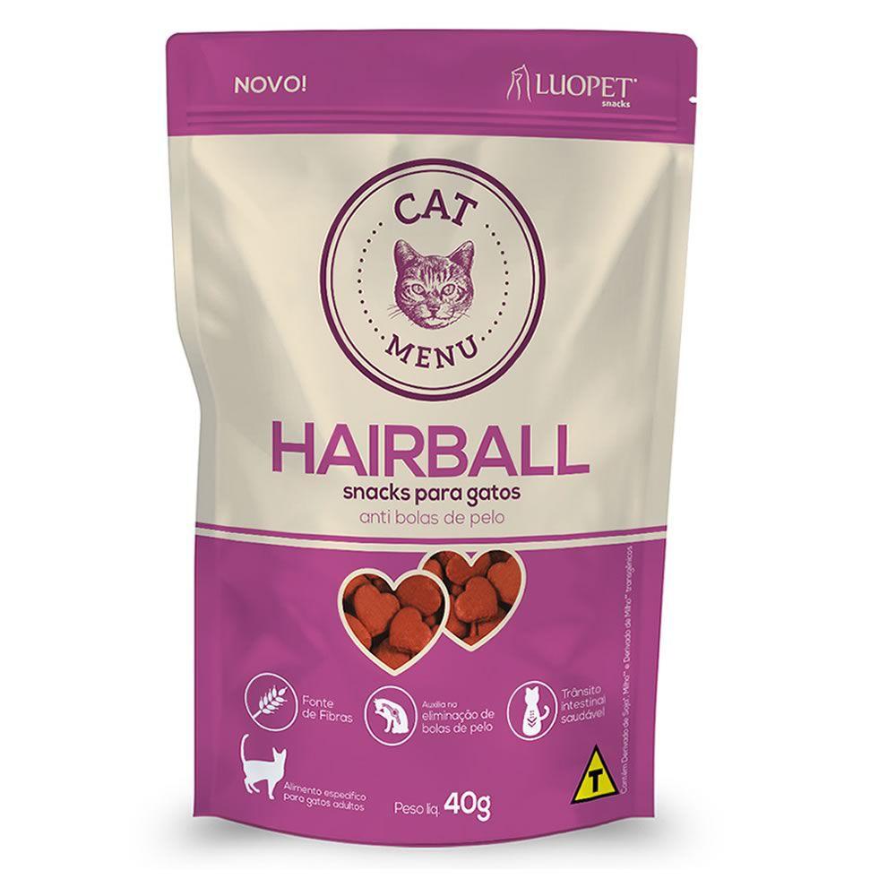 Petisco Cat Menu Hairball 40g  - Brasília Pet