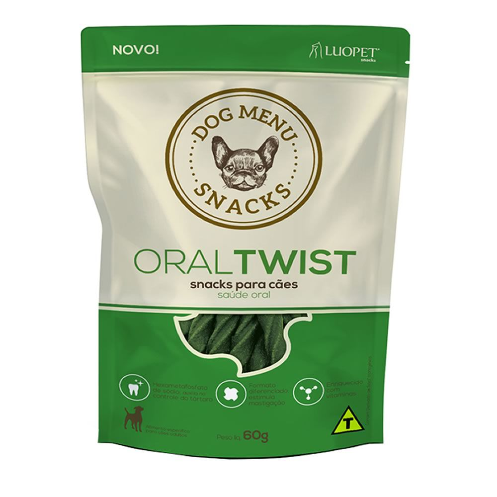 Petisco Dog Menu Oral Twist 60g  - Brasília Pet