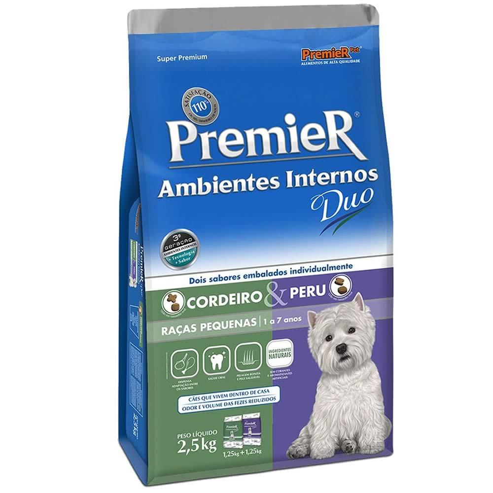 PremieR Ambientes Internos Duo Adultos Cordeiro e Peru  - Brasília Pet