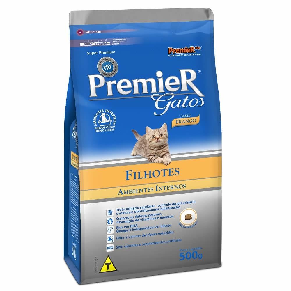 PremieR Gatos Ambientes Internos Filhotes Frango  - Brasília Pet