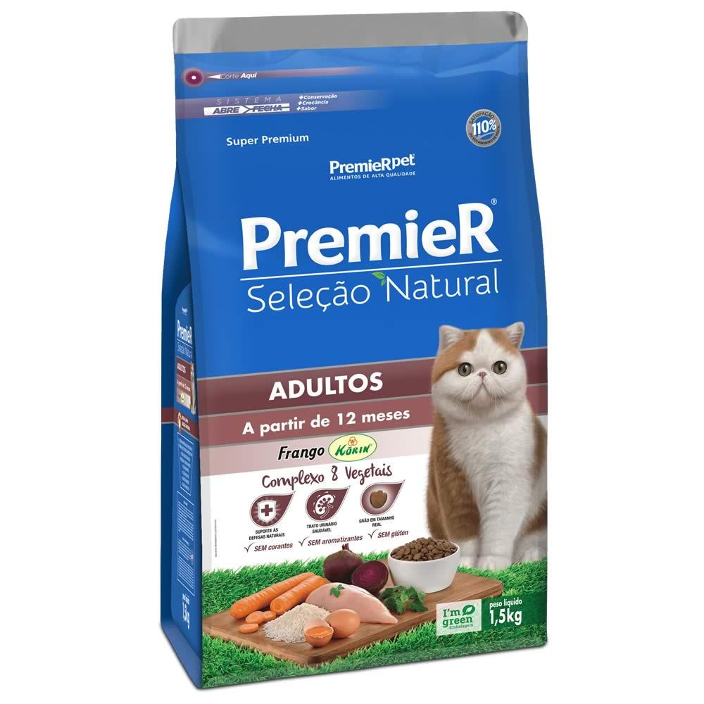 PremieR Seleção Natural Gatos Adultos  - Brasília Pet