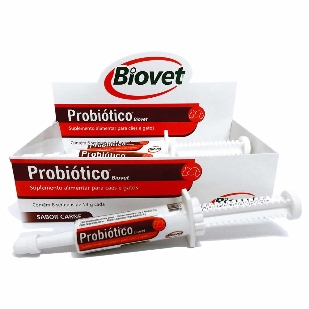 Probiótico Biovet 14g  - Brasília Pet