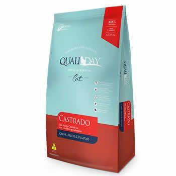 QualiDay Cat Castrado Carne  - Brasília Pet