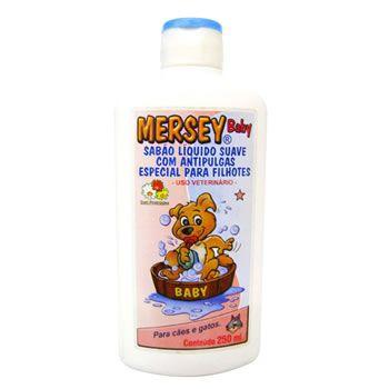 Sabão Líquido Antipulgas Baby Mersey 250ml  - Brasília Pet