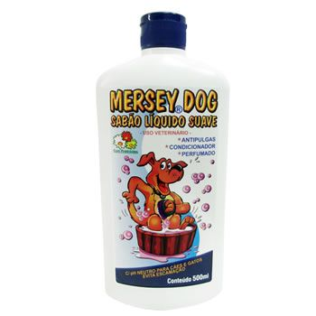 Sabão Líquido Antipulgas Mersey 500ml  - Brasília Pet