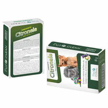 Sabonete Pet Clean Citronela 80g  - Brasília Pet