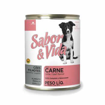 Sabor & Vida Filhotes Carne Lata 280 Gr  - Brasília Pet