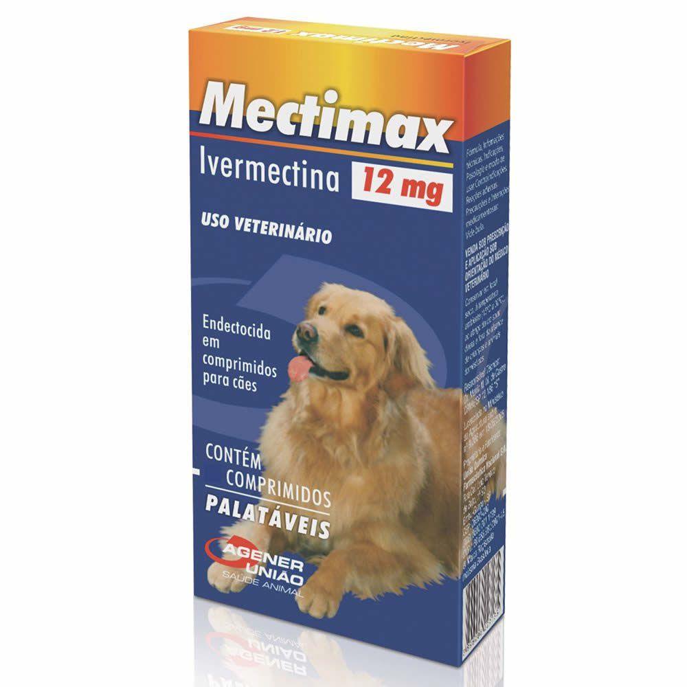 Sarnicida Mectimax 12mg Agener União 4 Comprimidos  - Brasília Pet