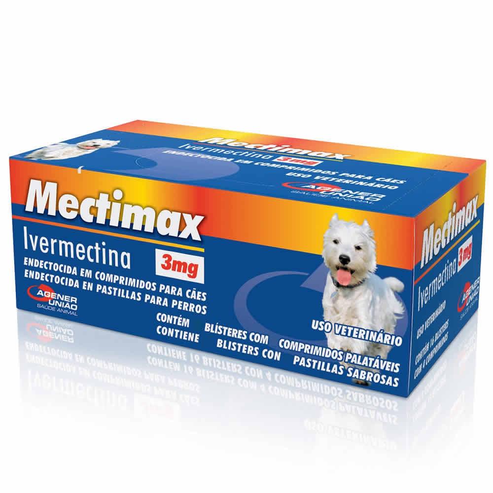 Sarnicida Mectimax 3mg Agener União 4 Comprimidos  - Brasília Pet