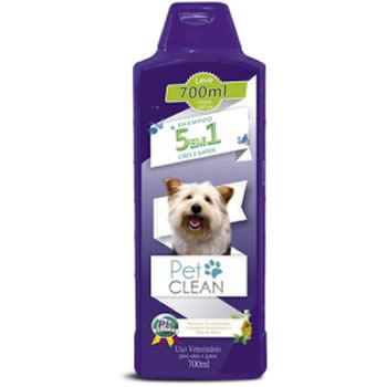Shampoo 5 em 1 Pet Clean 700ml  - Brasília Pet