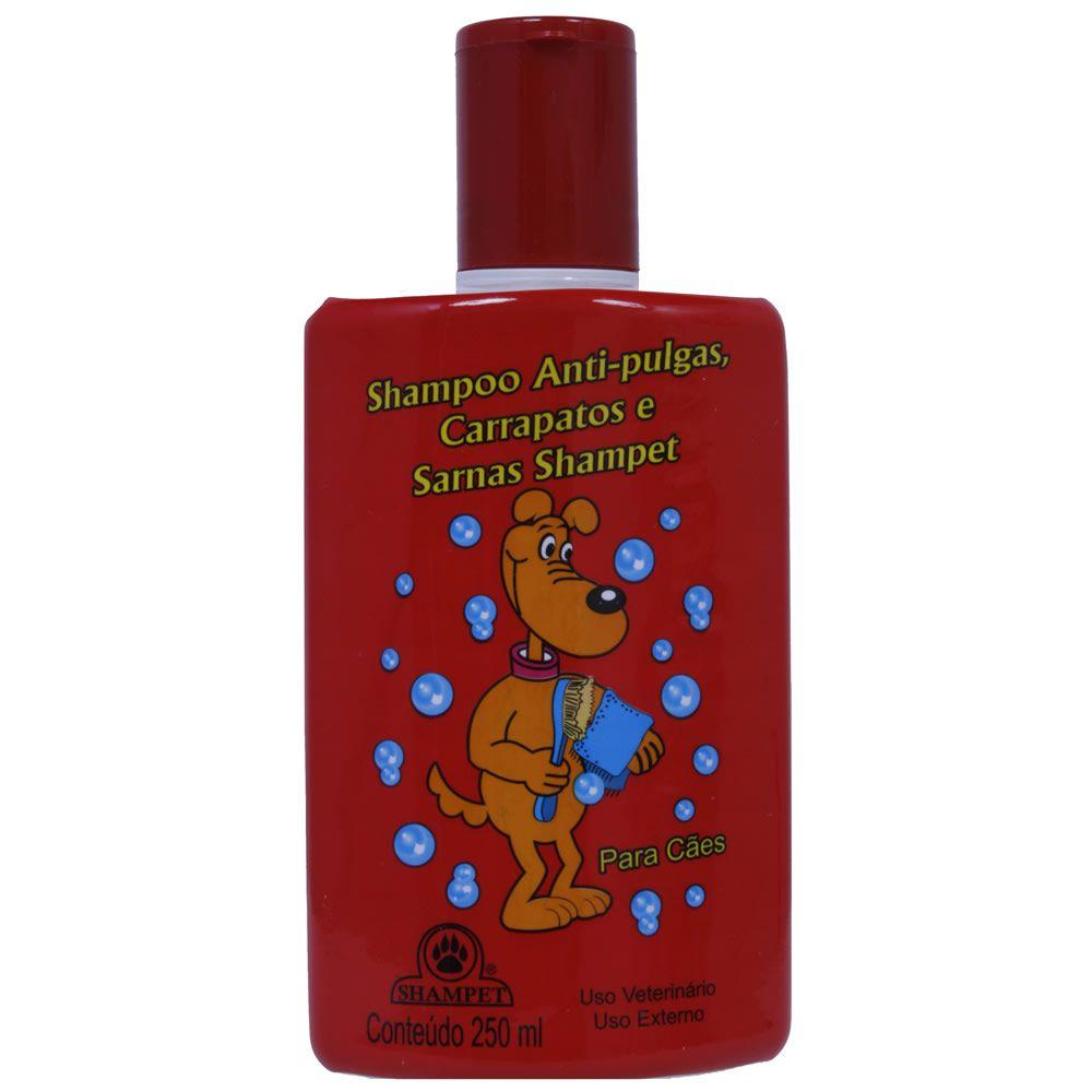 Shampoo Antipulgas Carrapatos e Sarnas Shampet  - Brasília Pet