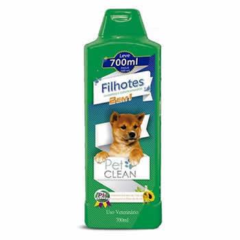 Shampoo Filhote 2 em 1 Pet Clean 700ml  - Brasília Pet