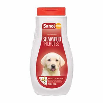 Shampoo Filhotes Sanol Dog 500ml  - Brasília Pet