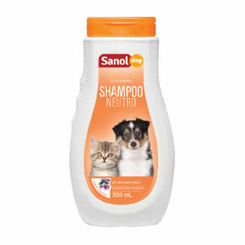 Shampoo Neutro Sanol Dog 500ml  - Brasília Pet