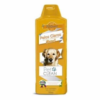 Shampoo Pelos Claros 2 em 1 Pet Clean 700ml  - Brasília Pet