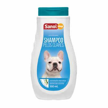 Shampoo Pelos Claros Sanol Dog 500ml  - Brasília Pet