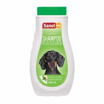 Shampoo Pelos Escuros Sanol Dog 500ml  - Brasília Pet
