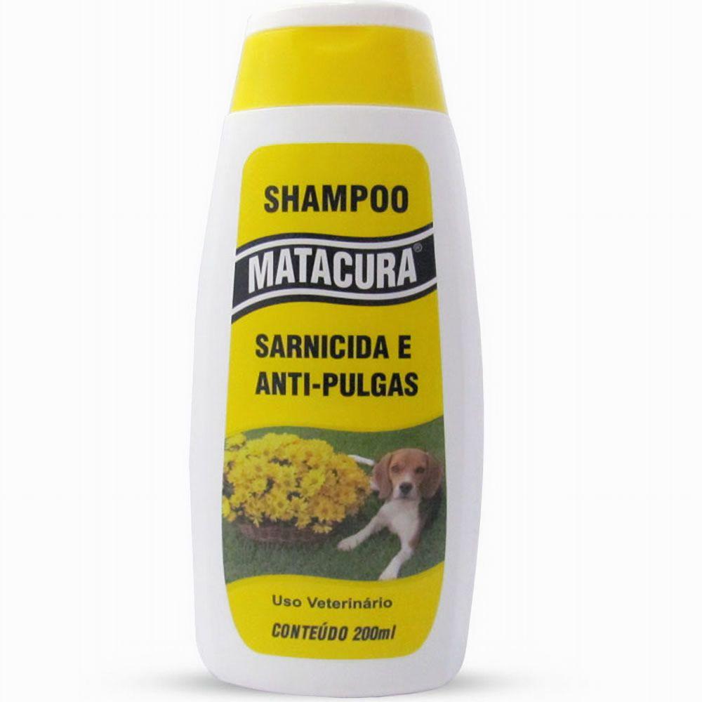 Shampoo Sarnicida e Antipulgas Matacura 200ml  - Brasília Pet