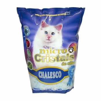 Sílica Micro Cristais Chalesco 1,8Kg  - Brasília Pet