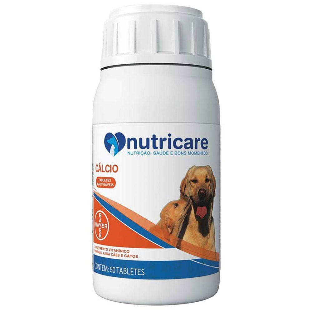 Suplemento Cálcio Nutricare 60 Comprimidos  - Brasília Pet
