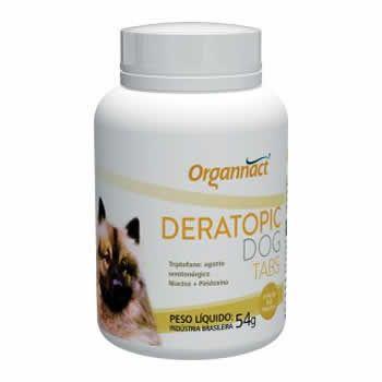 Suplemento Deratopic Dog Organnact 60 Comprimidos  - Brasília Pet