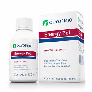 Suplemento Energy Pet Ouro Fino 125ml  - Brasília Pet