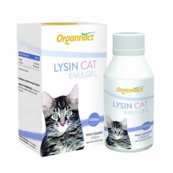 Suplemento Lysin Cat Emugel Organnact 100ml  - Brasília Pet