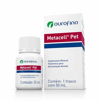 Suplemento Metacell Pet Ouro Fino 50ml  - Brasília Pet