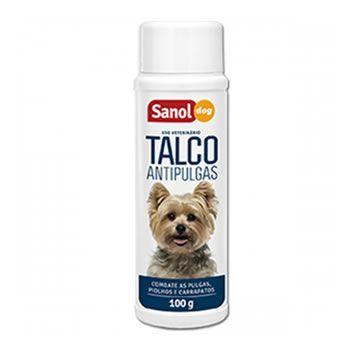Talco Antipulgas Sanol Dog 100g  - Brasília Pet