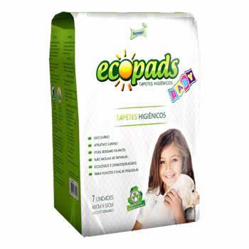 Tapete Higiênico Ecopads Sustentável Baby Petmais 65cm X 60cm  - Brasília Pet