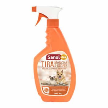 Tira Manchas e Odores Pet Sanol 500Ml  - Brasília Pet