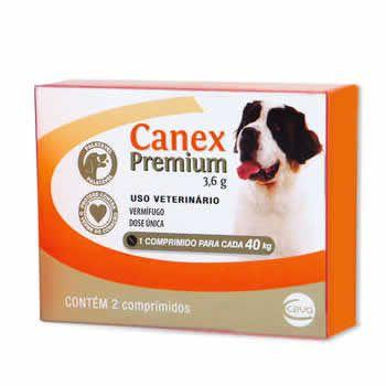 Vermífugo Canex Premium 3,6g Cães Ceva 2 Comprimidos  - Brasília Pet