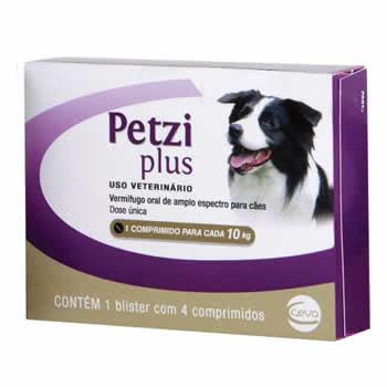 Vermífugo Petzi Plus 10kg 4 Comprimidos  - Brasília Pet