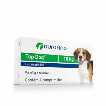 Vermífugo Top Dog Ouro Fino 10kg  - Brasília Pet