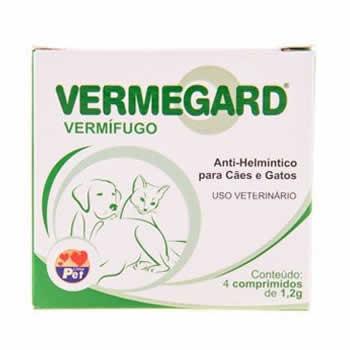 Vermífugo Vermegard 1,2g 4 comprimidos  - Brasília Pet