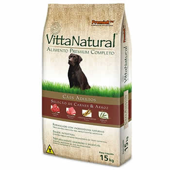 Vitta Natural Adultos Carne e Arroz  - Brasília Pet