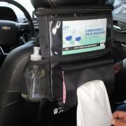 BAGLEV - Bolsa Térmica Porta Lenço p/ Banco Carro + 1 Gelo Gel