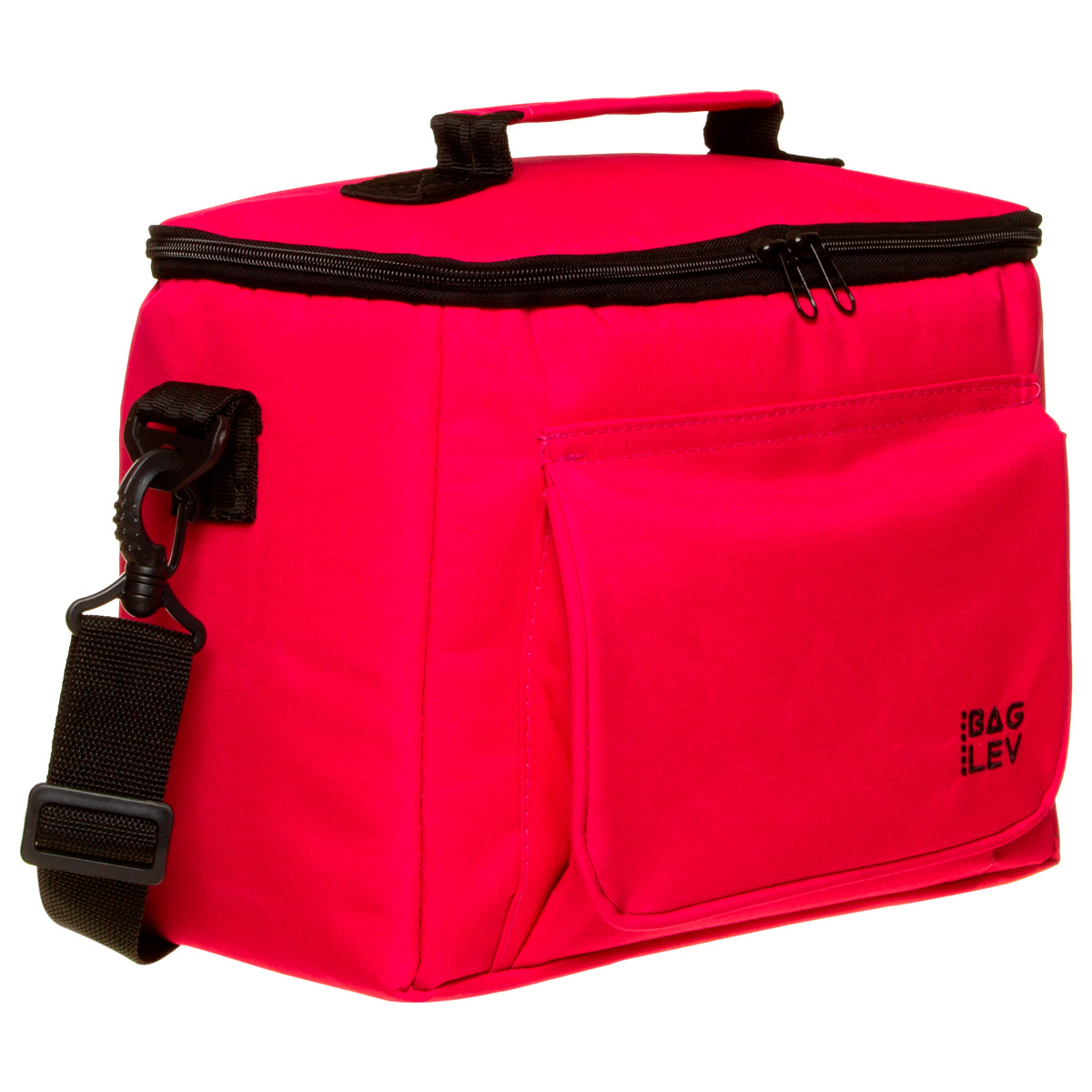 Bolsa Térmica Box 13 Litros Preta/Rosa - Para Produtos Quentes